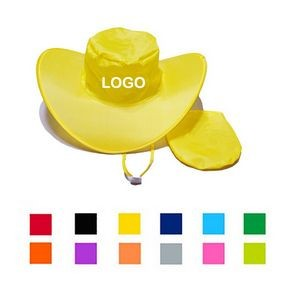Foldable Cowboy Hat with Storage Pouch